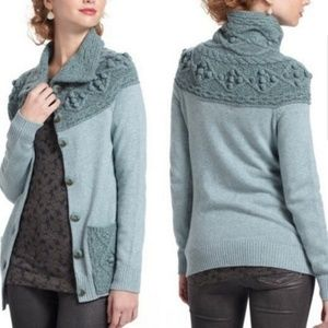 Angel of the North Cablepom Cardigan Sweater